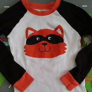 Carter's raccoon long sleeve pj shirt